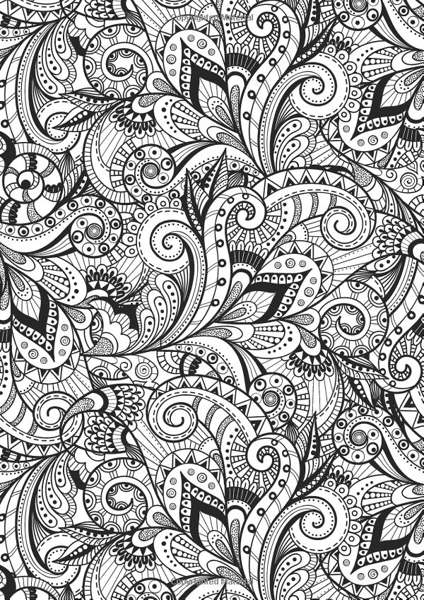 creative therapy an anti stress coloring book hannah davies richard merritt - Coloring Books
