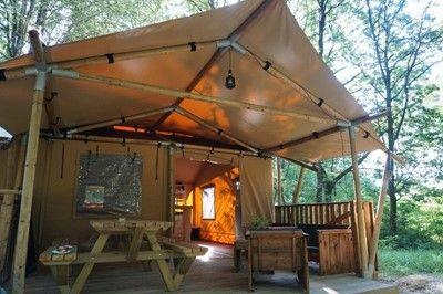Luxury Lodge XL 40m² - 2 slaapkamers, keukenhoek, badkamer, wc, terras