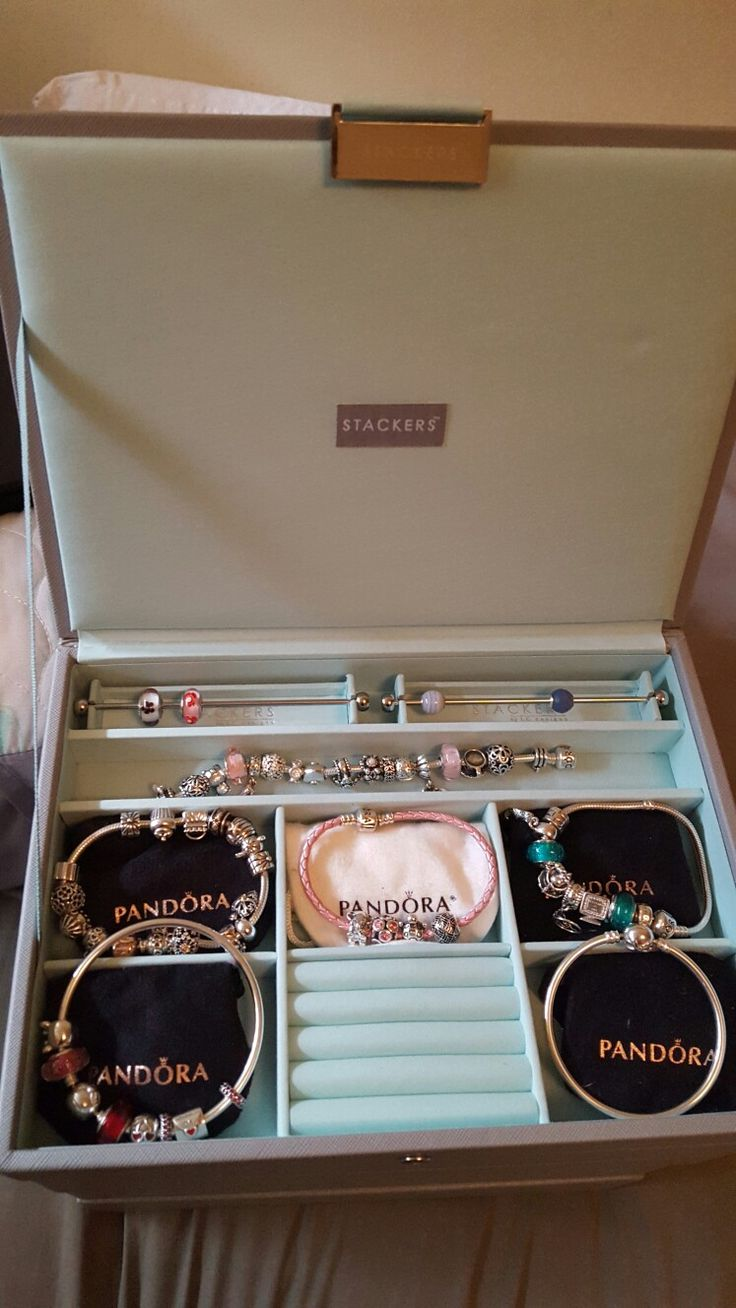 My stackers jewellery box with pandora inside ❤