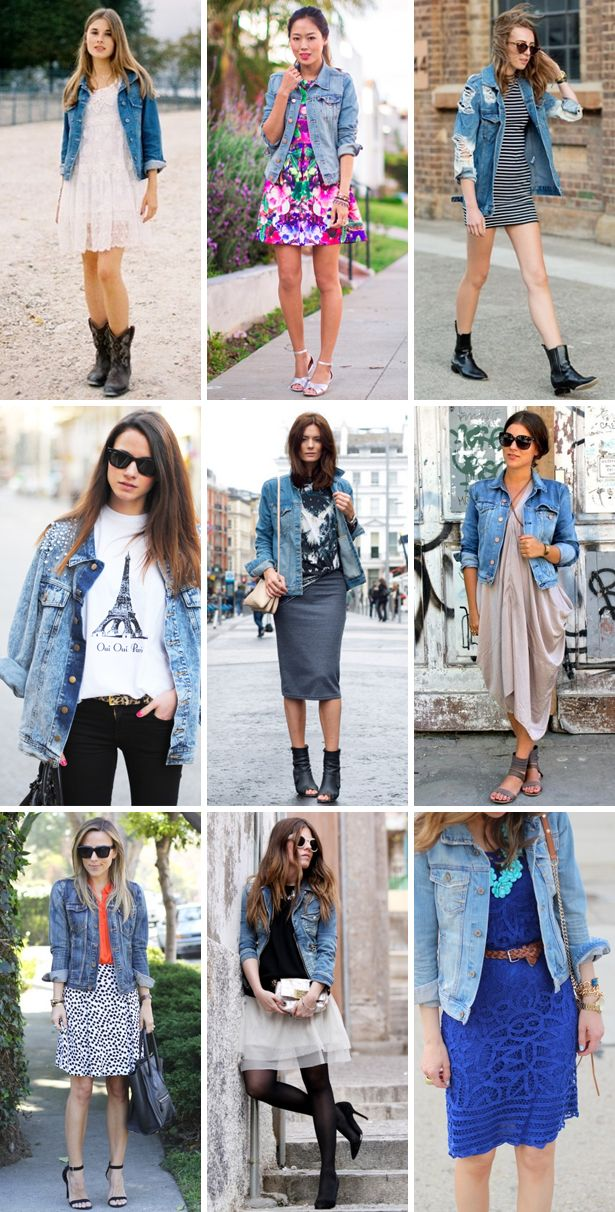 how to wear denim jacket - outfits denim jackets  | via www.PSbyDila.com