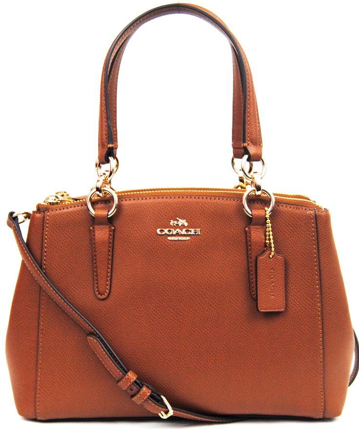 COACH Signature Mini Christie Carryall Bag Crossbody (Saddle)