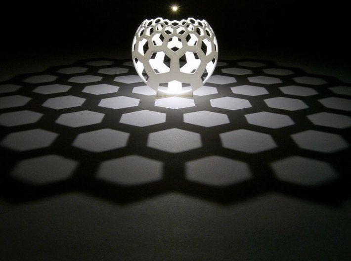 Honeycomb Stereographic Projection By Henryseg On Shapeways Stereographic Projection 3d Printing Service 3d Printing