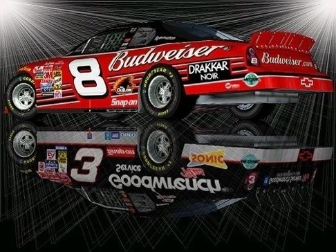 Dale Earnhardt Dale Earnhardt, Jr - love this photo. I have both of these replicas and tons of things from them both.