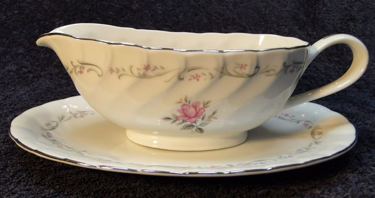 Fine China of Japan Royal Swirl Gravy Boat With UnderPlate NICE…