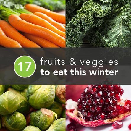 Fruits & Veggies that are in-season thru the winter
