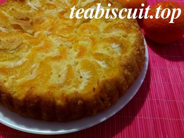 Бисквит с мандаринами - рецепт с фото (4)