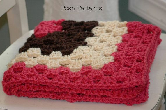 Crocheting Easy Blankets Throws And Wraps : Crochet PATTERN - Crochet Baby Blanket Pattern - Newborn Granny Squar ...