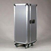 MultiCase Silver Rib, Stylehiker, Flightcase Design Möbel für Büro, Küche, Loft etc. Rollcontainer silber als Flightcase bei fabrikschick.de