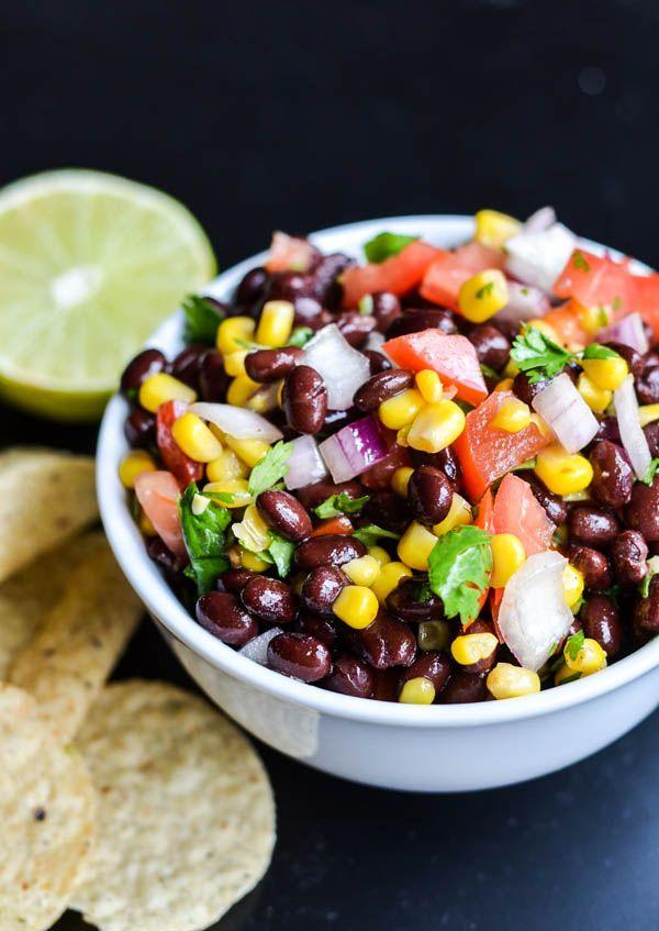 Black Bean Pico de Gallo - as a taco filling or dip for chips