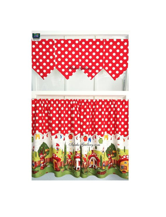 Just For Fun Gnomes Red Polka Dot Tier Set 54 Wide