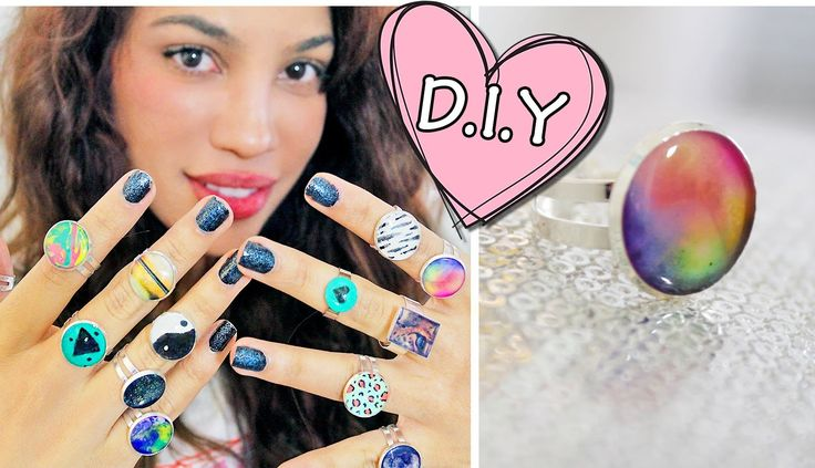 DIY: Glue Rings?! This is genius. Forever 21 can suck it with there $20 rings that are basically the exact same.