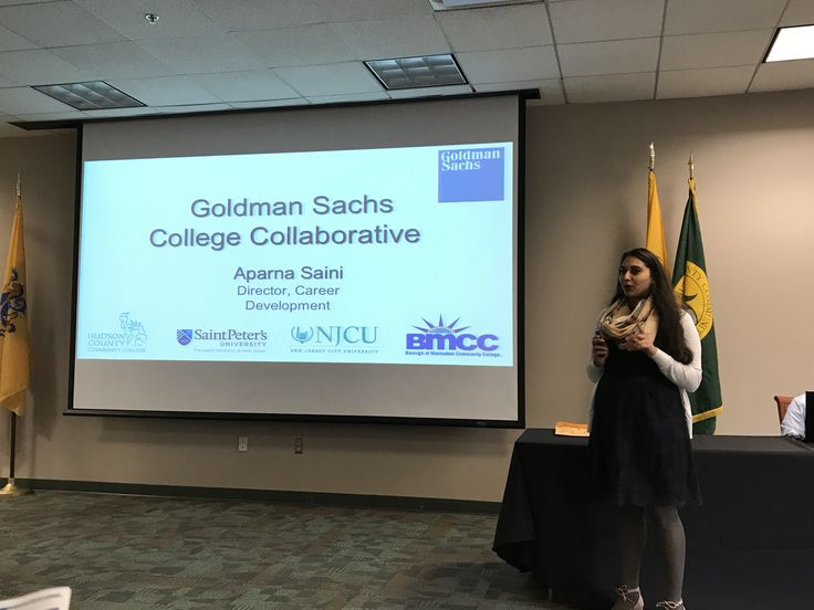 The Goldman Sachs College Collaborative Aparna Saini, Director of Career Development  Ten HCCC students will have access to one of the largest investment banks and its corporate culture through this innovative mentorship program.
