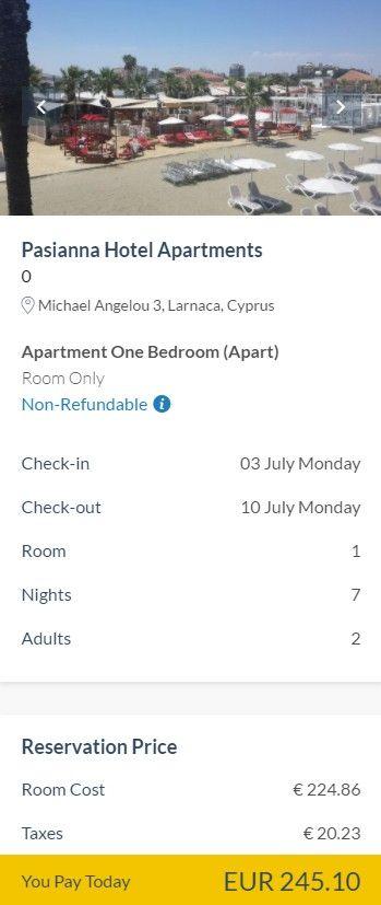 Incepem saptamana cu super preturi pentru o vacanta la plaja cu bani putini in una dintre cele mai iubite insule din Mediterana, Cipru! Pentru doar 194 eur/pers, ai inclus zborul dus-intors din Bucuresti si 7 nopti de cazare la hotel cu rating excelent pe Tripadvisor! La sfarsitul articolului gasesti si alte perioade pentru o vacanta ieftina in Cipru cu plecari din Cluj si Bucuresti.