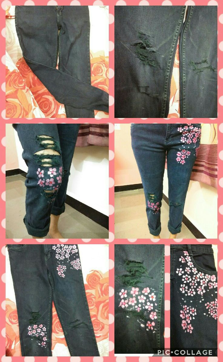 DIY distress jeans....