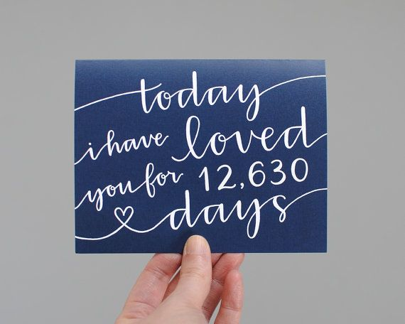 What a lovely sentiment for a wedding day, anniversary, birthday, or other special occasion. The cover reads today I have loved you for ___ days