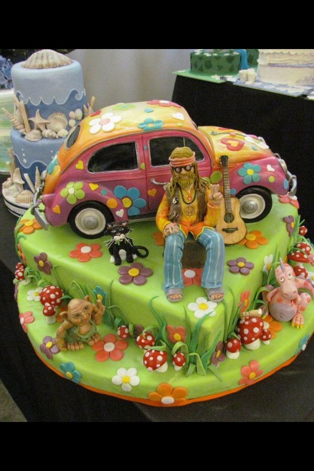 17 Best Images About Hippie Cakes On Pinterest Birthday