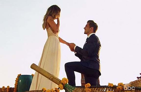 The former NFL player Jordan Rodgers responded by getting down on one knee and presenting JoJo…