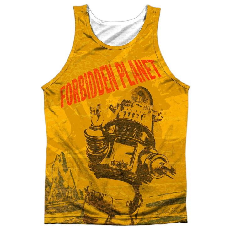 "Checkout our #LicensedGear products FREE SHIPPING + 10% OFF Coupon Code ""Official"" Forbidden Planet/strang World-adult 100% Poly Tank T- Shirt - Forbidden Planet/strang World-adult 100% Poly Tank T- Shirt - Price: $24.99. Buy now at https://officiallylicensedgear.com/forbidden-planet-strang-world-adult-100-poly-tank-shirt-licensed"