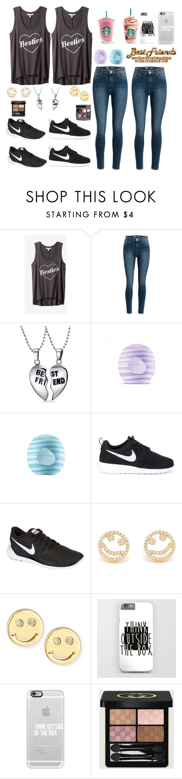 """""""Shoutout to @violingirl2003"""" by ahriraine ❤ liked on Polyvore featuring Express, Bling Jewelry, Eos, NIKE, Rosa de la Cruz, Sydney Evan, Casetify, Chanel and Gucci"""