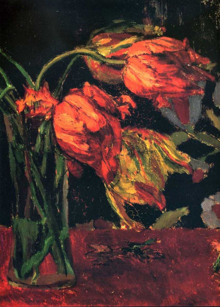 ❀ Blooming Brushwork ❀ garden and still life flower paintings - Tulips - Duncan Grant Bloomsbury Group