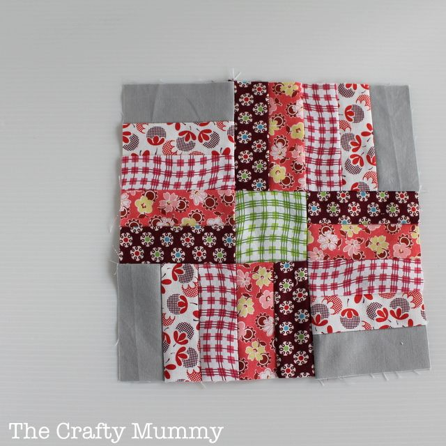 February Quilt Block from free Craftsy Block of the Month 2013  #quilting