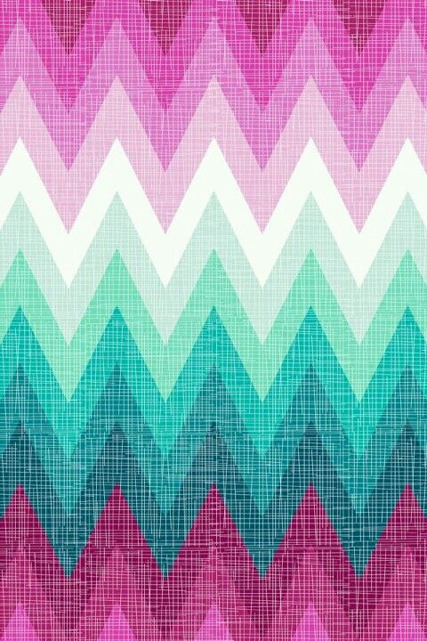Pink mint and white ombre chevron phone wallpaper Ombre aqua wallpaper
