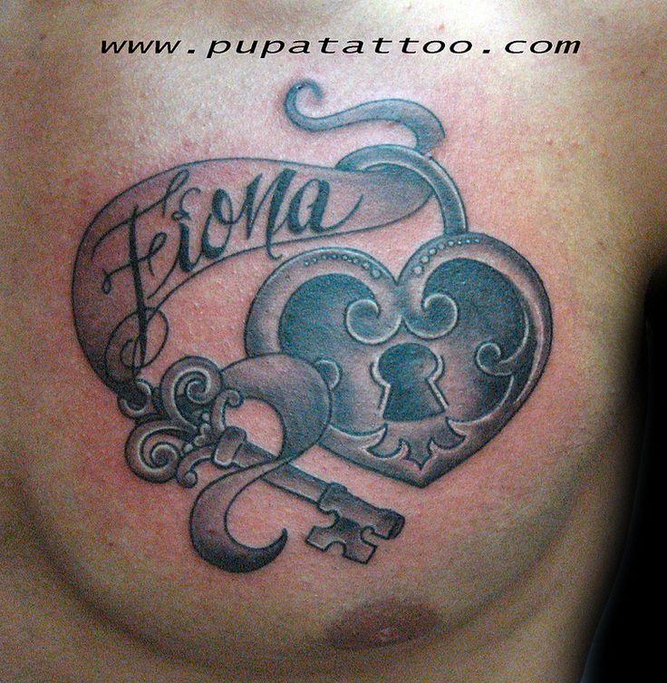 Tatuaje LLave y corazón Pupa Tattoo Granada
