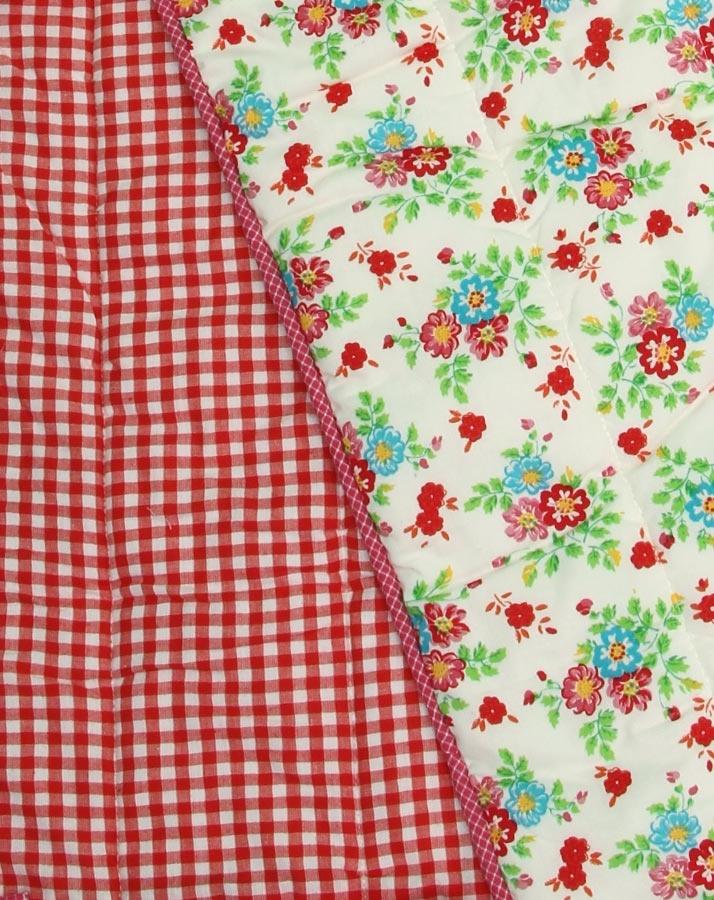 Nestchen mit Blumenprint und Karo in bunt