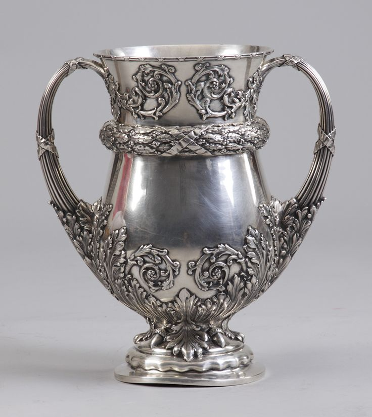 Monumental Sgn. Tiffany & Co. Makers Sterling Silver Trophy, circa 1902.