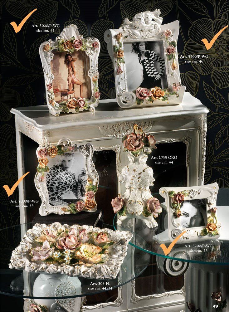 #Ceramic Photoframes - Italian Art