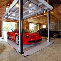 Garage with underground lifts.