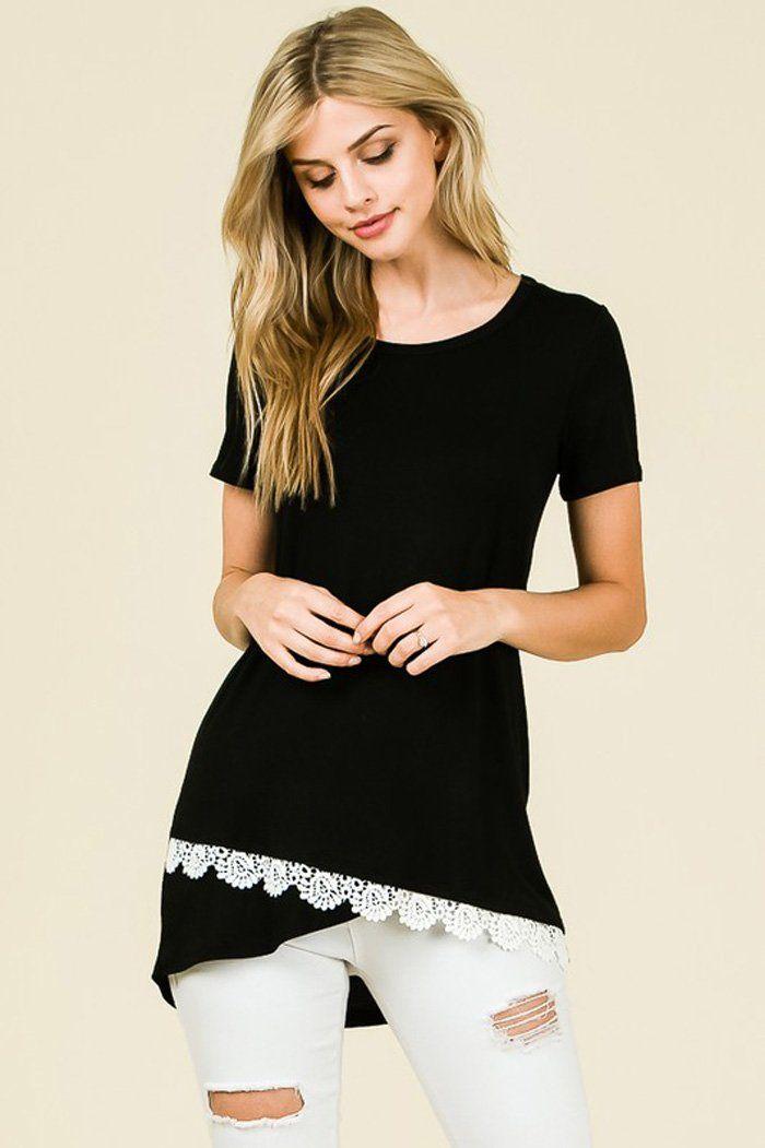 c08807ae19 Frida Crochet Hem Top : Black – GOZON Boutique | Basics 2018 in 2019 ...