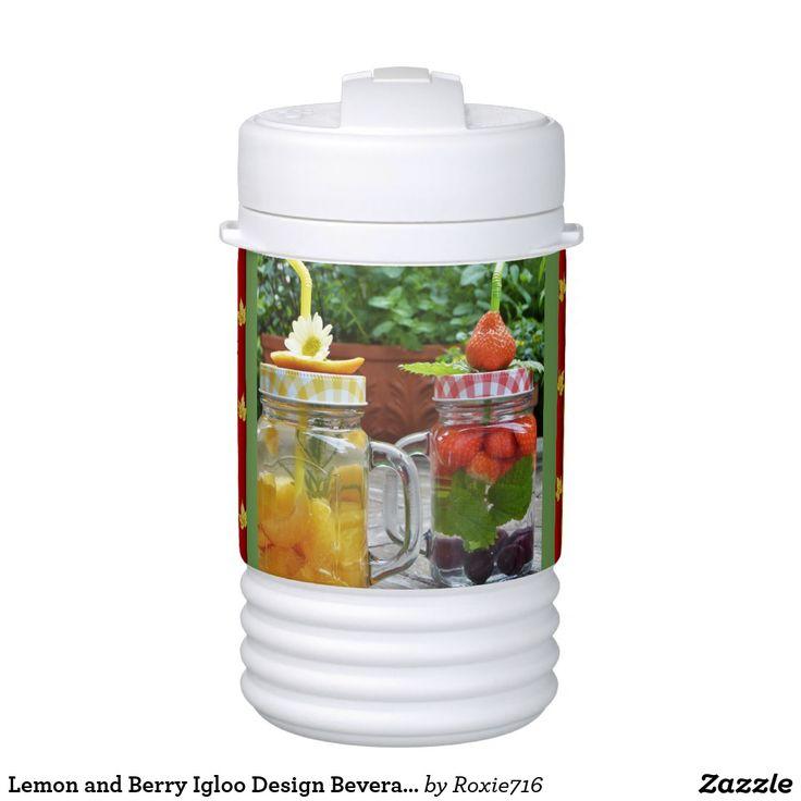 Lemon and Berry Igloo Design Beverage Cooler