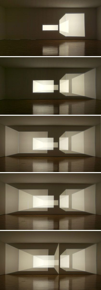 Olafur Eliasson, Reimagine, 2002.  Light art installation