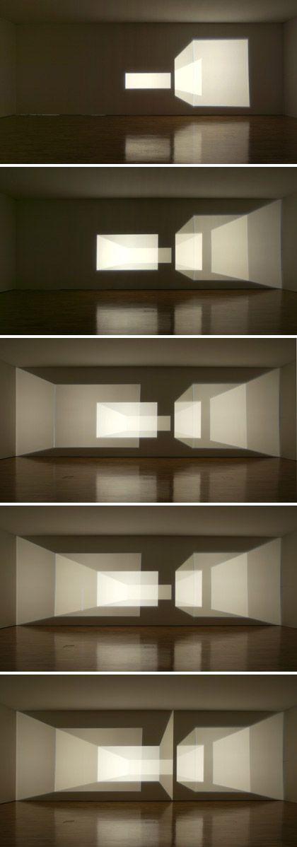 Olafur Eliasson, Reimagine, 2002.  Light art installation