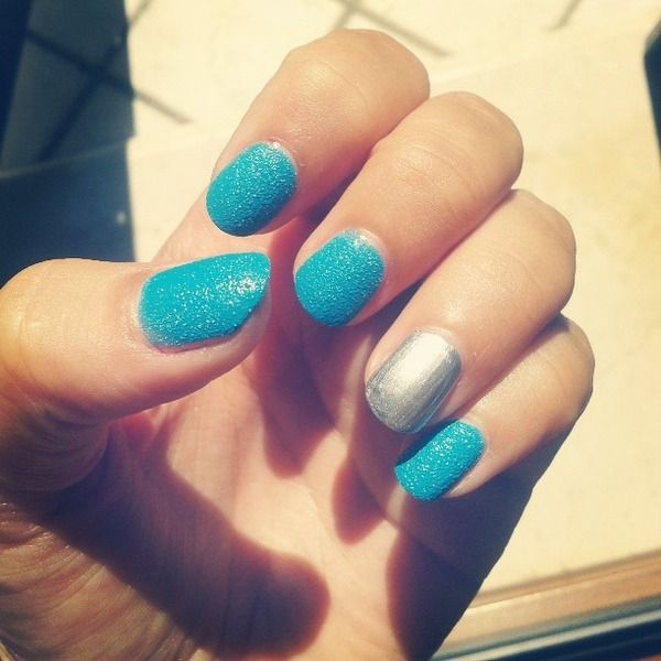 Sandy turquoise & shiny silver