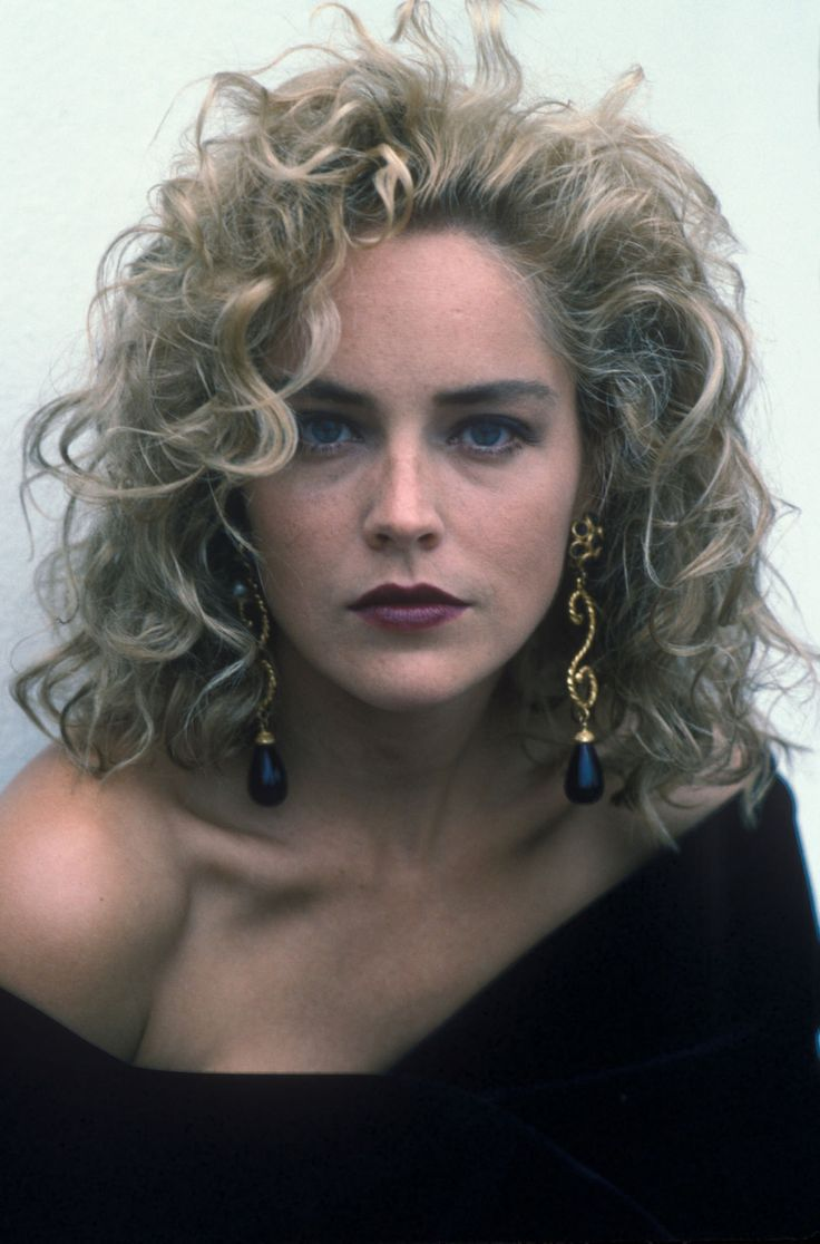 Sharon stone spiky short haircut for older women over 50 getty images - Women Of The 90s Sharon Stone 1991