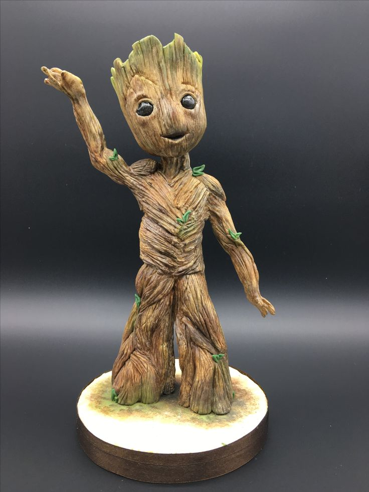 I am Groot ... topper sugar paste Saracino