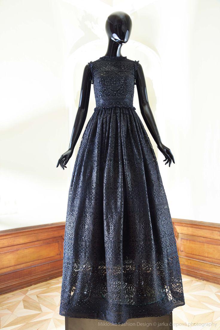 11. MFD Black long formal evening dress. www.mikloskofashiondesign.sk