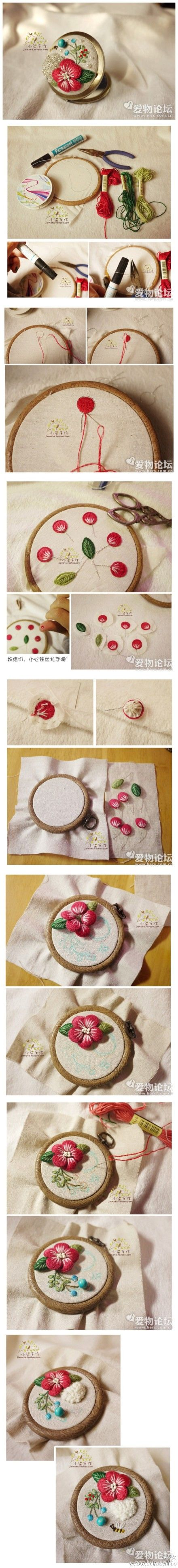 How To 3d Flowers Embroidery