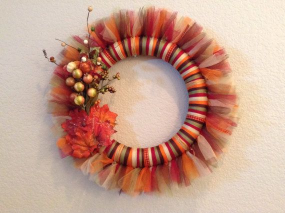 Hey, I found this really awesome Etsy listing at https://www.etsy.com/listing/203690851/fall-tulle-wreath