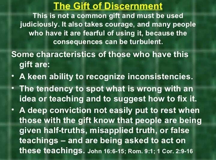 Spiritual gift discernment definition lamoureph blog the gift of discernment was given to me by holy spirit when i younger negle Images