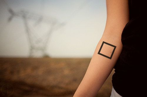InknArt Temporary Tattoo  2pcs Geometric Square tattoo by InknArt