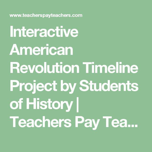 Interactive American Revolution Timeline Project by Students of History | Teachers Pay Teachers