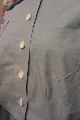 Detail of WW2 nurse's dress