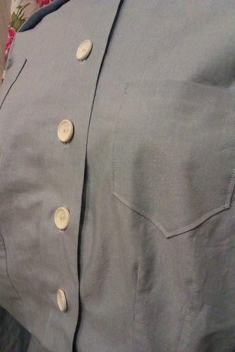 Detail of WW2 nurse's dress