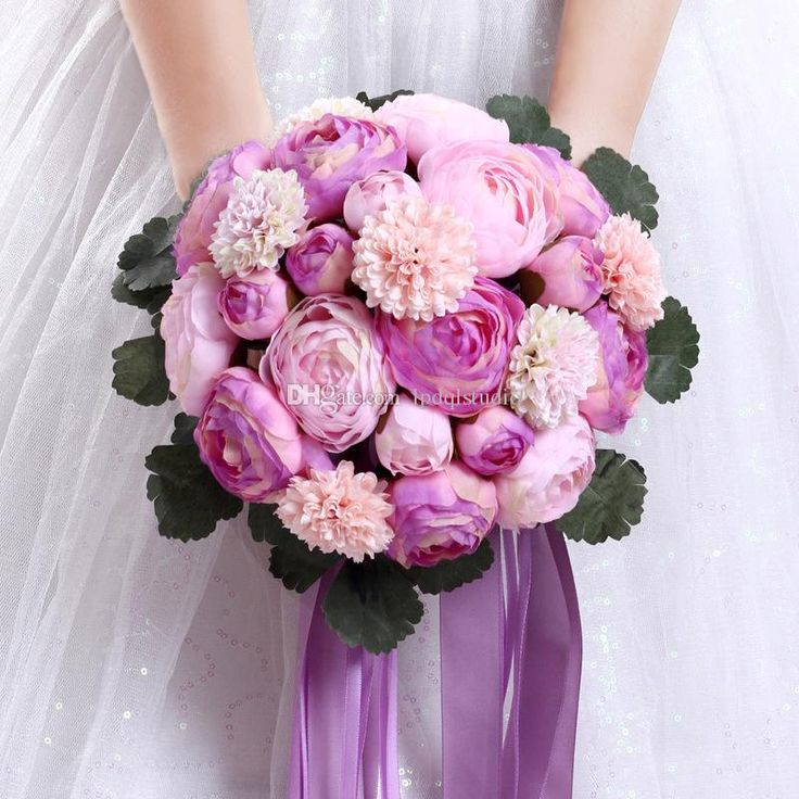 Stunning Purple Bridal Bouquets Wedding Flowers New Arrival Wedding Suppliers Cheap Bridal Bouquets Wedding Bouquets Wedding Bouquets Online with $29.0/Piece on Lpdqlstudio's Store | DHgate.com