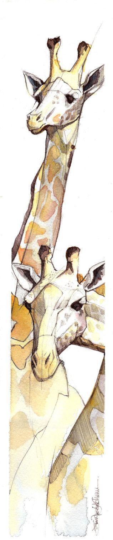 giraffa 2 piccola stampa di jenkraska su Etsy
