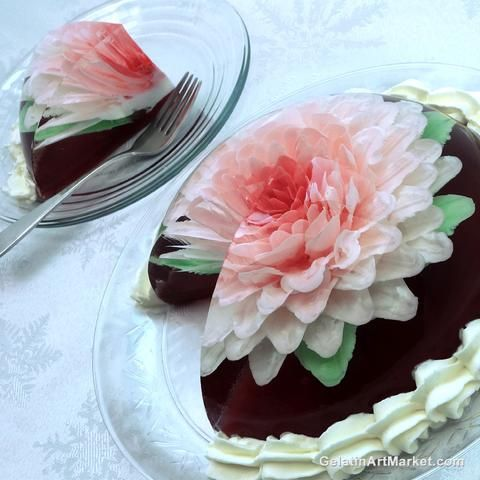 Gelatin Art Cake