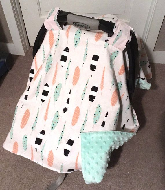 Baby Sale Baby Carrier Cover Car Seat Canopy for Girls Mint